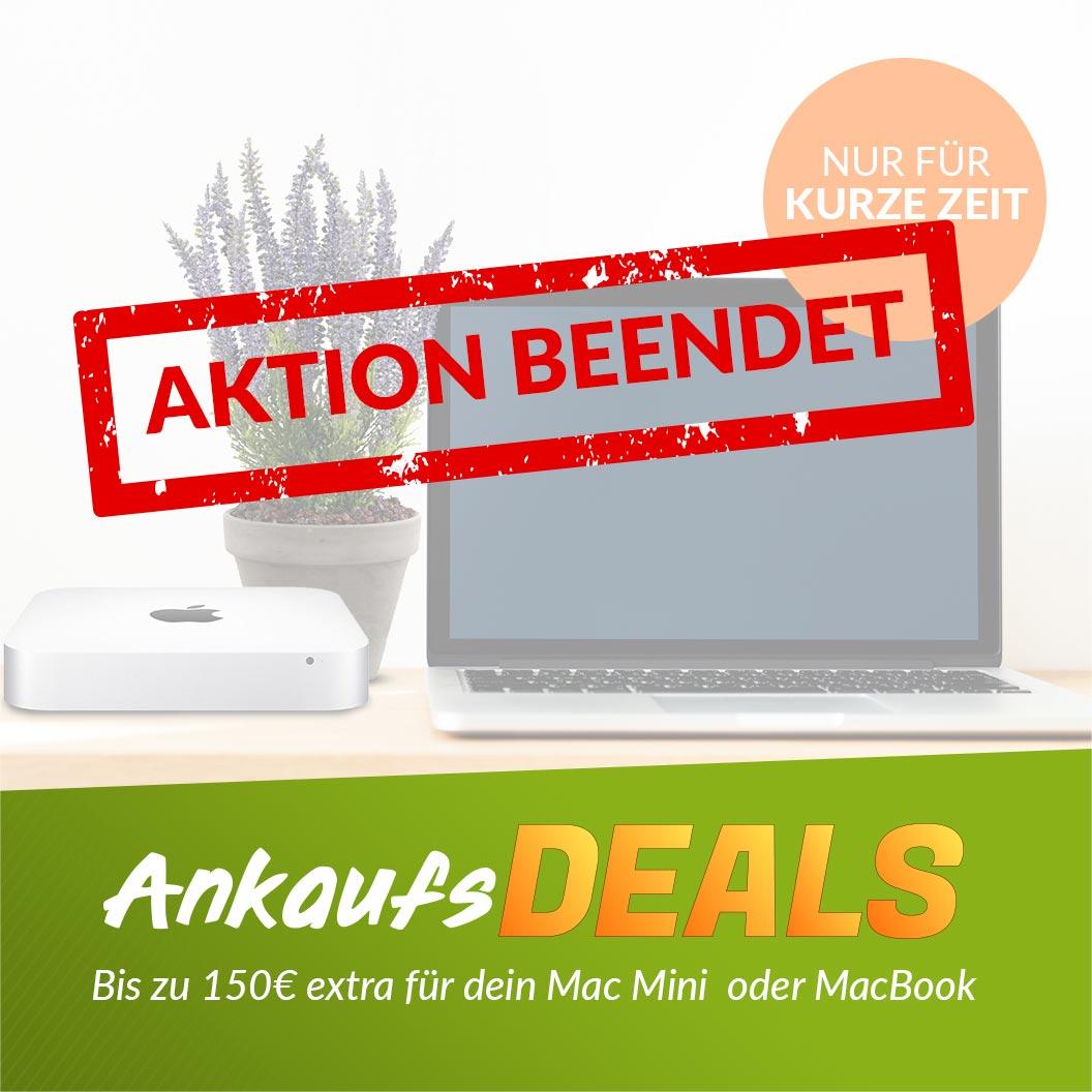 Verkaufe jetzt dein MacBook Aktion beendet
