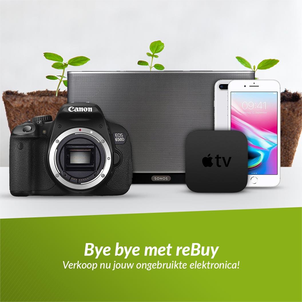 Bye bye met reBuy Verkoop nu jouw ongebruikte elektronica!